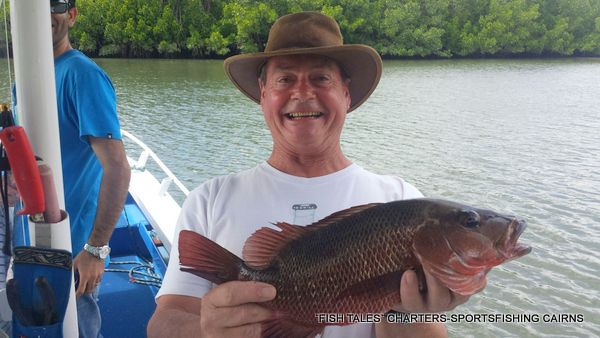 River Fishing on the Mulgrave and Russell Rivers for Mangrove Jack