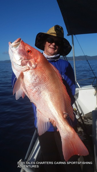 Reef fishing for Large Mouth Nannygai from Cairns