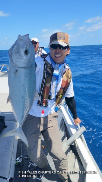 Reef Fishing on the Great Barrier Reef from Cairns-Tea Leaf Trevally