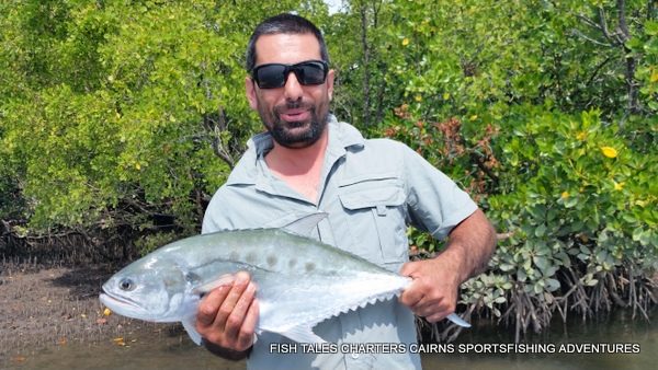 Estuary fishing in Trinity Inlet, Cairns for Queen Fish