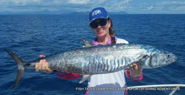 Bluewater (reef) fishing on the Great Barrier Reef from Cairns for Spanish Mackerel