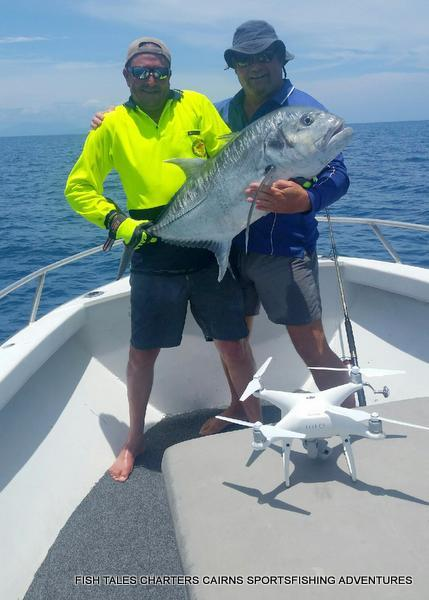 GT Popper fishing on the Reef for Matt and another one!