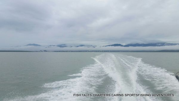 Heading away from the Coast from Cairns for a day of Reef fishing