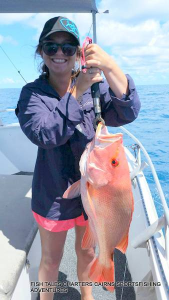 Reef fishing from Cairns for Large Mouth Nannygai