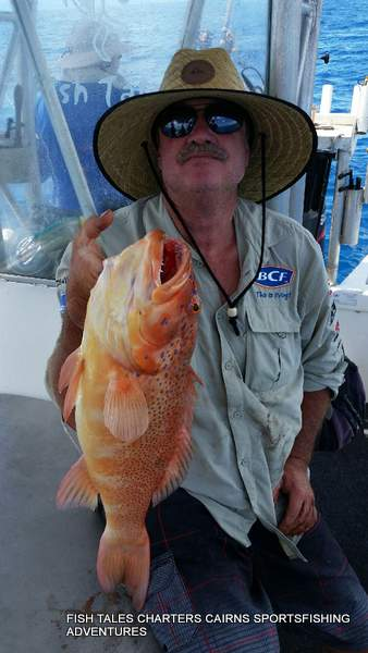 Reef fishing from Cairns for Coral Trout