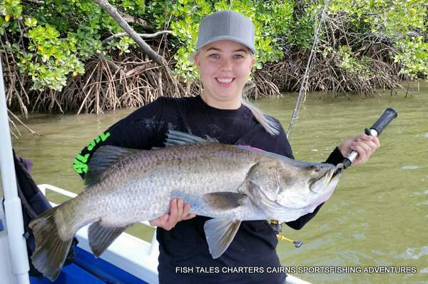 Estuary fishing in Trinity Inlet, Cairns for Barramundi