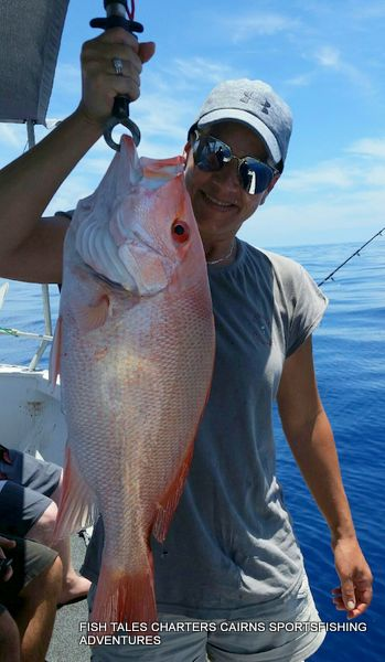 Reef fishing with Mika for Large Mouth Nannygai