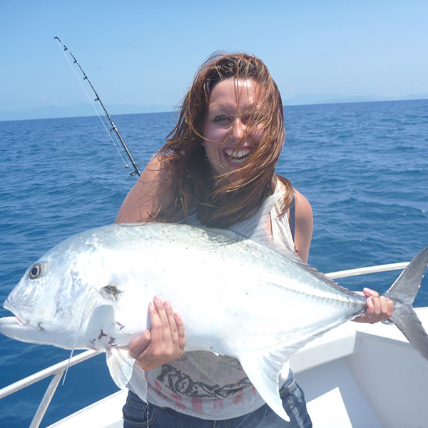 GT Popper fishing on the Great Barrier Reef for Giant Trevally