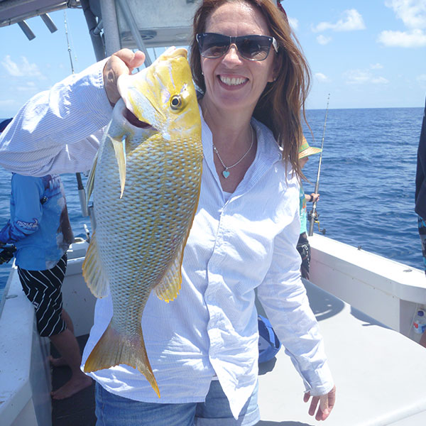 Reef fishing for Spangled Emperor on the Great Barrier from Cairns