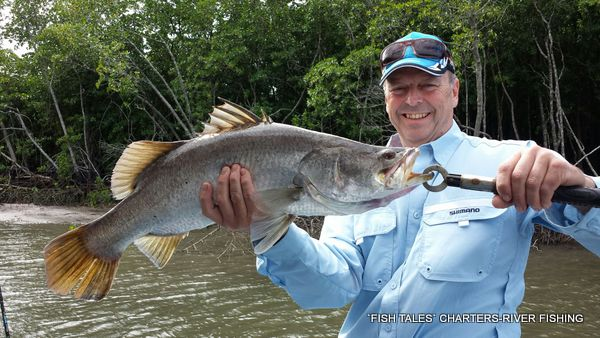 River fishing for Barramundi