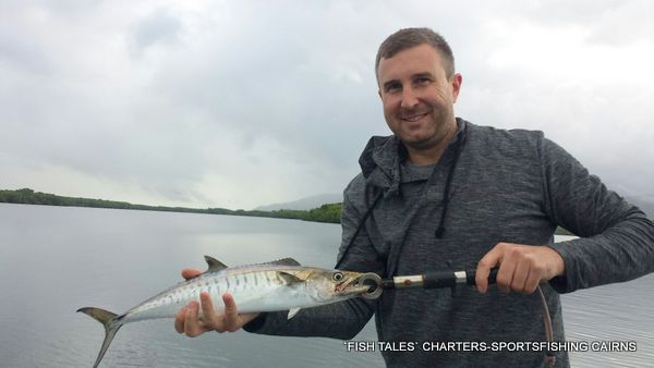 River fishing on the Mulgrave and Russell Rivers for Mackerel