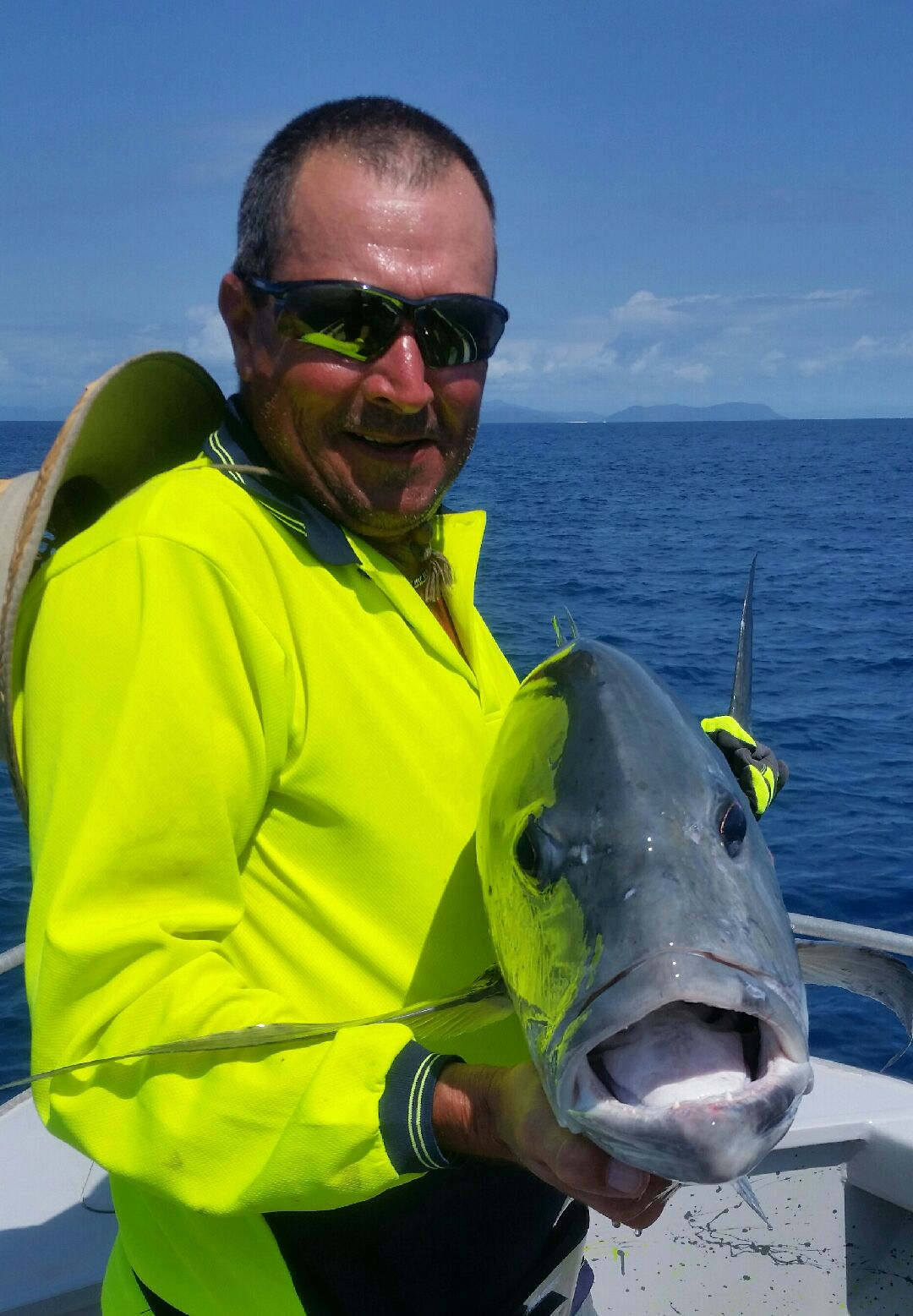 Fish Tales Charters Cairns GT popper fishing on the reef
