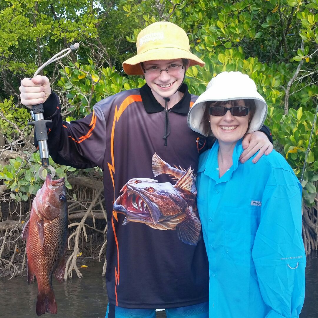 Evan and his Mum Mangrove Jack