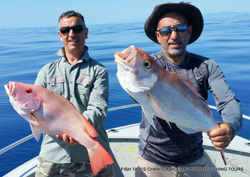 Mario and his Large Mouth Nannygai and Sid with Gold Band Snapper
