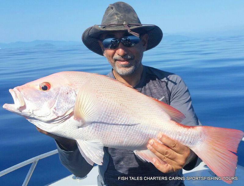 Sid with Large Mouth Nannygai (Saddletail snapper)