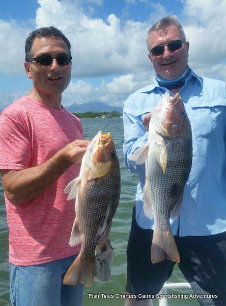 Two mates, estuary fishing for Fingemark