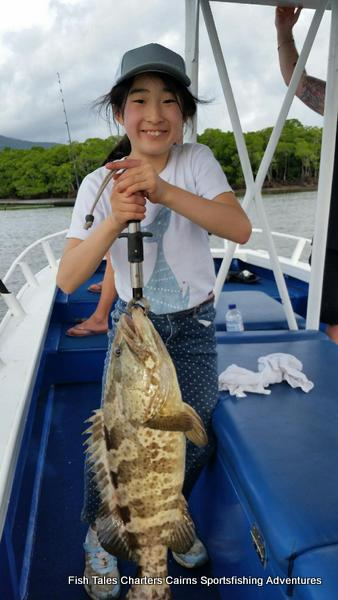 Estuary fishing charter from Cairns in Tropical North Queensland for Gold Spot Estuary Cod