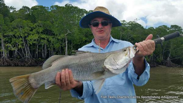 Estuary fishing charter from Cairns, Trinity Inlet, Tropical North Queensland