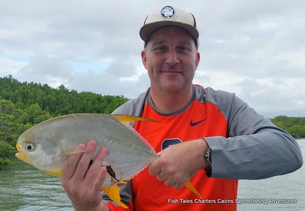 Permit fish in Dickson`s Inlet, Port Douglas