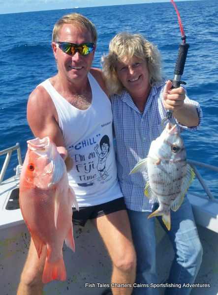 Fishing on the Great Barrier Reef from Cairns in Tropical North Queensland, Australia