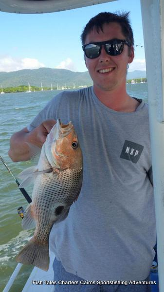 Mitch and his Fingermark (Golden snapper)
