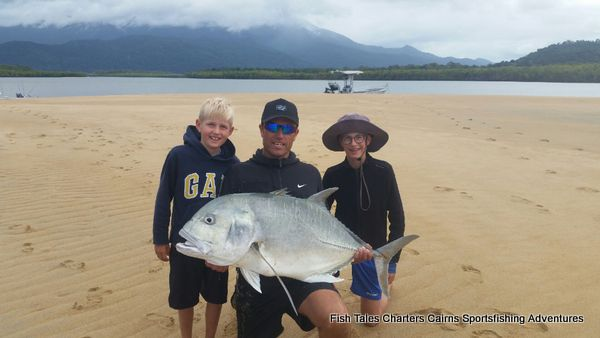 GT (Giant Trevally) while popper fishing on the Mulgrave & Russell Rivers and Mutchero Inlet