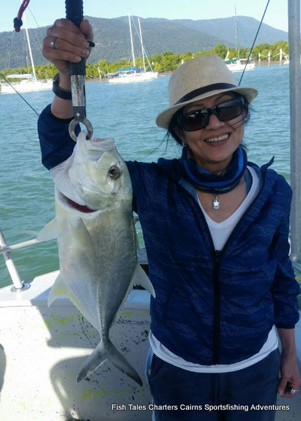 Estuary fishing charter from Cairns in Tropical North Queensland for Trevally