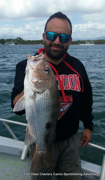 Anthony and his Fingermark (Golden snapper)
