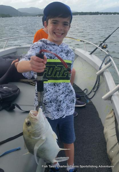 Estuary fishing with the kids for trevally