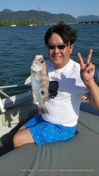 Cairns Estuary fishing for Fingermark (Golden snapper)