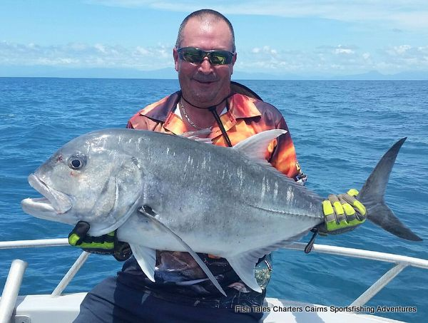 GT Popper fishing on the Great Barrier Reef from Cairns