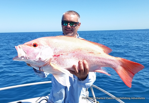 Large Mouth Nannygai while reef fishing from Cairns