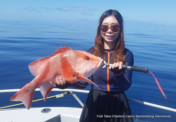 Reef Fishing from Cairns for Red Emperor for Connie