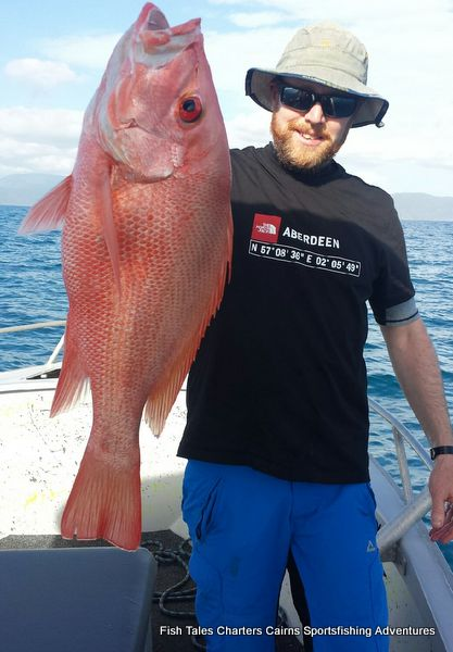 Roddy and his Large mouth Nannygai (Saddletail snapper)