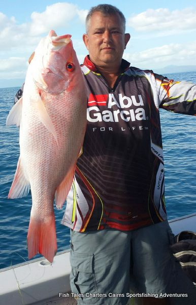 Frank and his second Large mouth Nannygai (Saddletail snapper)