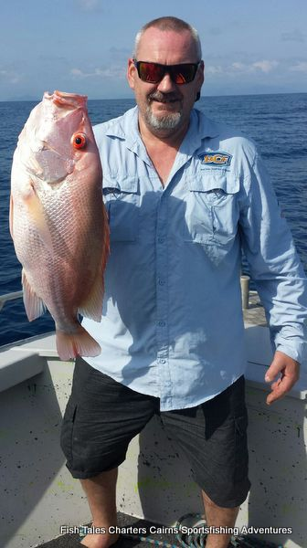 Chris and second Large mouth Nannygai (Saddletail snapper)