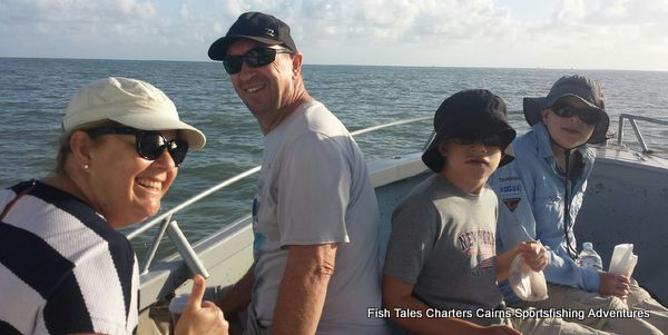 Family day out reef fishing from Cairns with Alison, Stewart, Finlay and Max