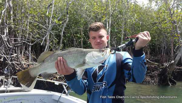 Sportsfishing for Barramundi on the Mulgrave & Russell Rivers and Mutchero Inlet