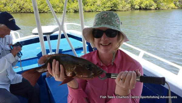 Estuary fishing charter from Cairns for Mangrove jack