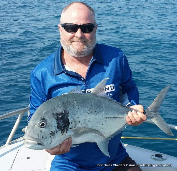 Russell Popper fishing on the Great Barrier Reef for Giant Trevally (GT)
