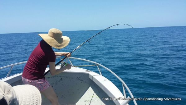 Sam, Popper fishing on the Great Barrier Reef